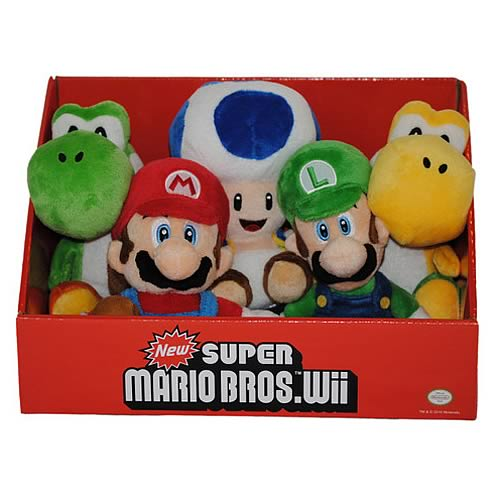 Super Mario Bros. Wii Wave 1 6-Inch Plush Case