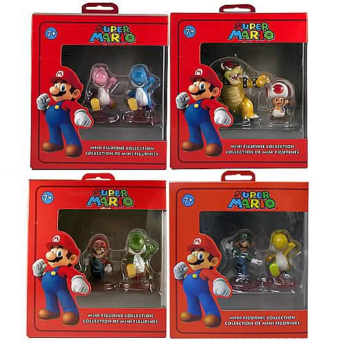 Super Mario Bros. Mini Figures 2-Pack Case