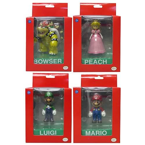 Super Mario Bros. 3-Inch Deluxe Figures Wave 1 Case