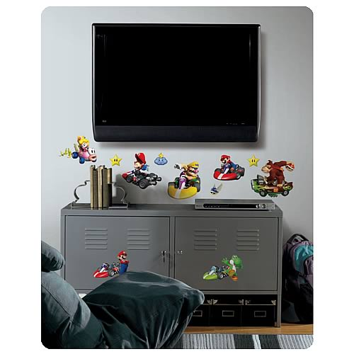 Mario Kart Wii Wall Appliques