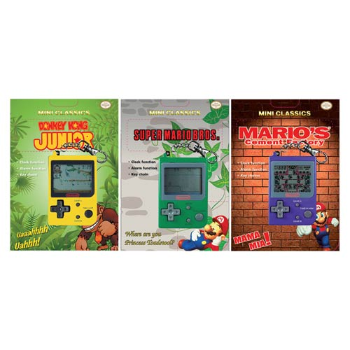 Nintendo Classics Mini Hand Held Electronic Video Games Set