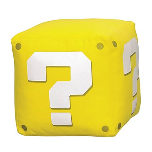 Super Mario Bros. Wii Question Mark Box Sound Plush
