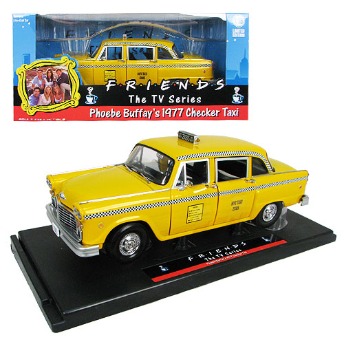 Friends Phoebe's Taxicab 1:18 Scale Die-Cast Metal Vehicle