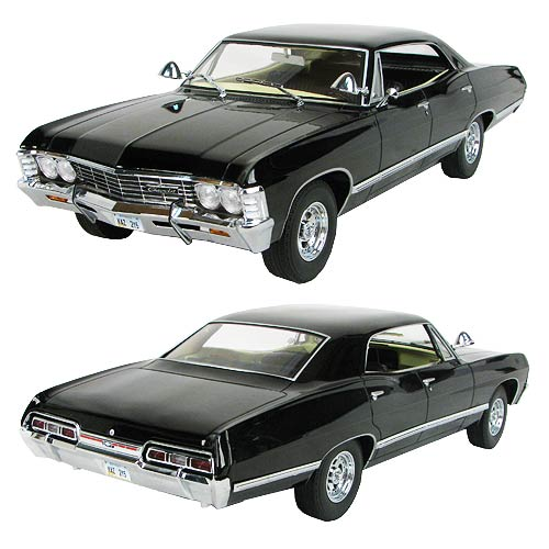 Supernatural Black 1967 Impala 1:18 Scale Die-Cast Vehicle
