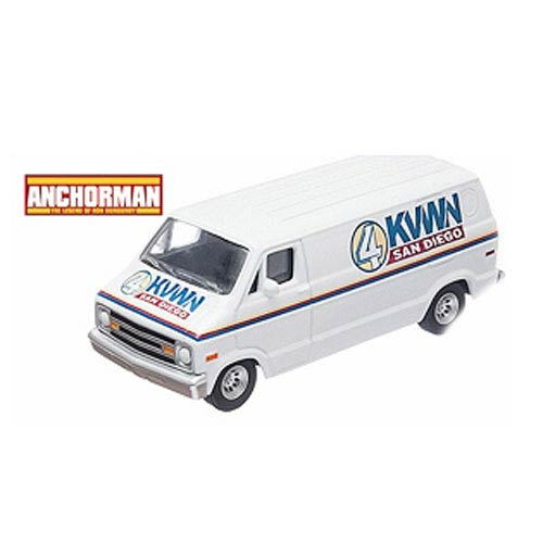 Anchorman Channel 4 KVWN Dodge Van 1:64 Die-Cast Vehicle