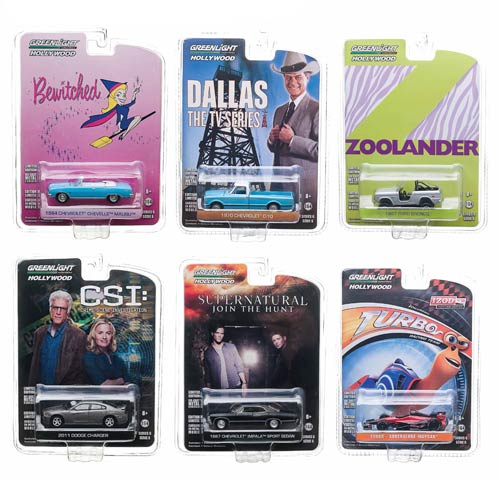 Hollywood Series 6 Die-Cast Metal 1:64 Scale Vehicle Set
