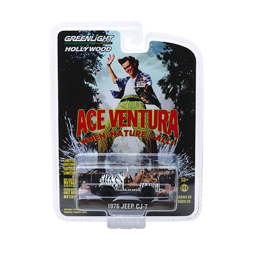 Ace Ventura: When Nature Calls (1995) - 1976 Jeep CJ-7 Hollywood Series 1:64 Scale Die-Cast Metal Vehicle