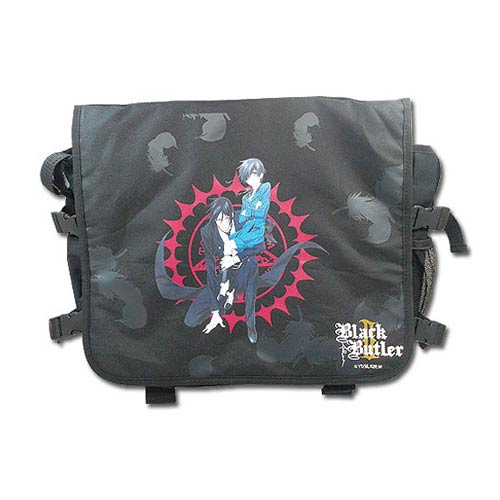 Black Butler 2 Sebastian and Ciel Black Messenger Bag