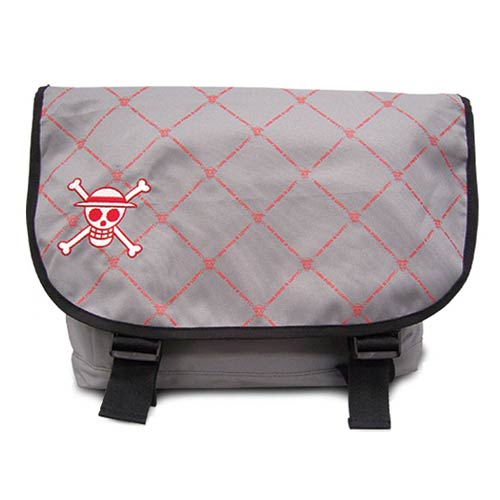 One Piece Chopper Skull Icon Gray Messenger Bag