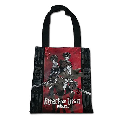 attack on titan eren and levi tote bag great eastern