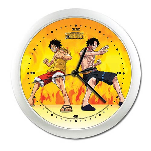 One Piece Luffy and Ace Wall Clock