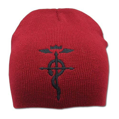 Fullmetal Alchemist Brotherhood Flamel Red Beanie Hat