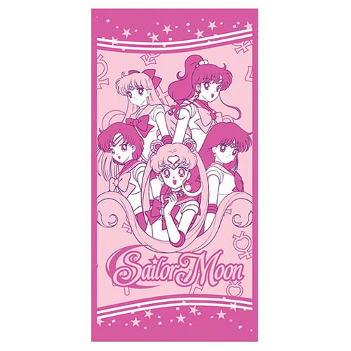 Sailor Moon Group Photo Pink Towel