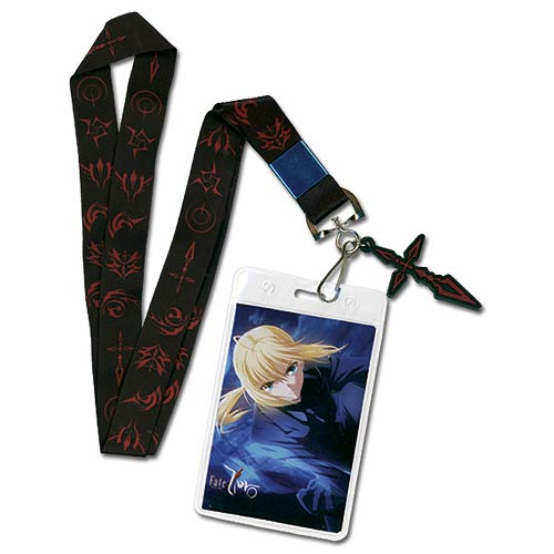 Fate/Zero Saber Command Seal Lanyard Key Chain
