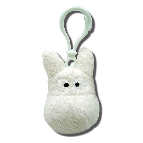 My Neighbor Totoro White Clip-On Plush Key Chain