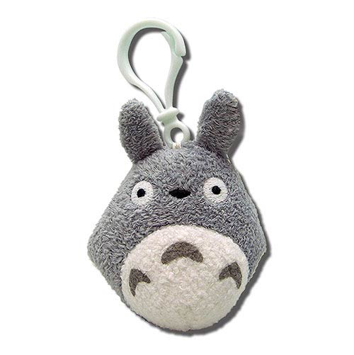 My Neighbor Totoro Gray Clip-On Plush Key Chain