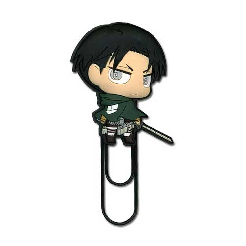 Attack on Titan Levi Super Deformed Figural Paper Clip