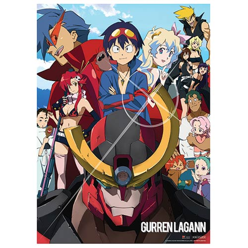 Gurren Lagann Group Photo Wall Scroll