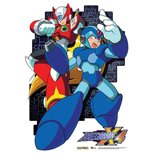 Mega Man X4 Mega Man and Zero Wall Scroll