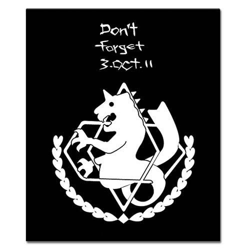 Fullmetal Alchemist Brotherhood State Black Throw Blanket