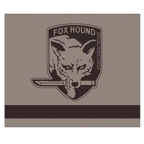 Metal Gear Solid Fox Hound Brown Throw Blanket