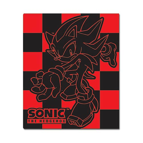 Sonic the Hedgehog Shadow Red and Black Throw Blanket