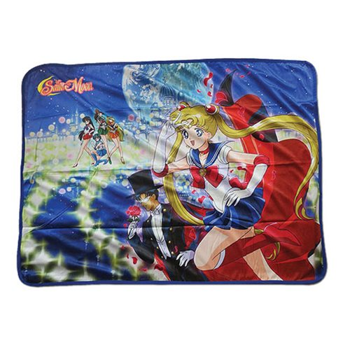 Sailor Moon Group Sublimation Throw Blanket