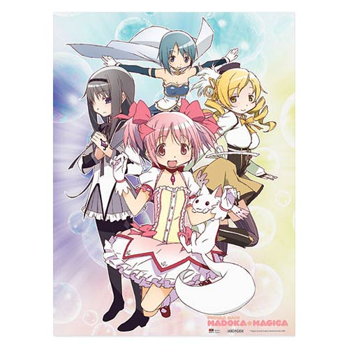 Puella Magi Madoka Magica Group Photo Wall Scroll