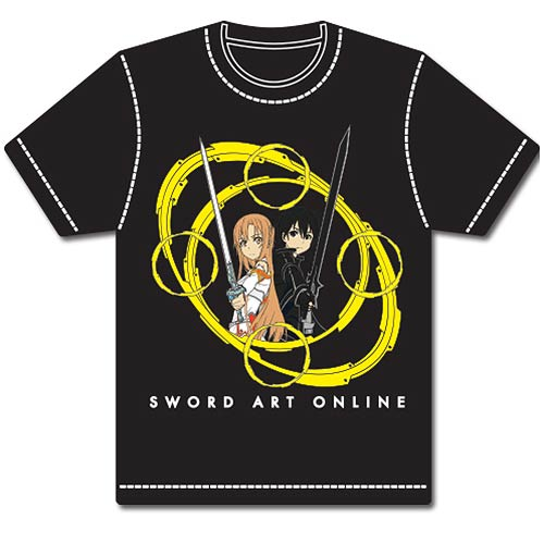 Sword Art Online Kirito and Asuna Circles 2 Gray T-Shirt