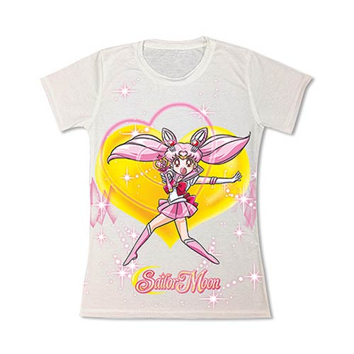 Sailor Moon Chibimoon White Juniors T-Shirt