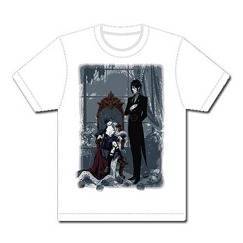 Black Butler Sebastian and Ciel White T-Shirt