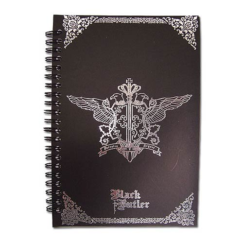 Black Butler Phantomhive Emblem Black Notebook