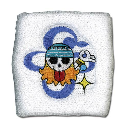 One Piece Nami's Skull Icon White Sweatband