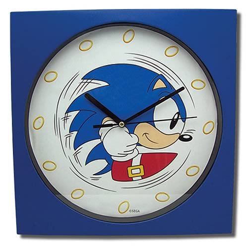 Sonic the Hedgehog Classic Rolling Sonic Clock