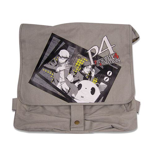 Persona 4 Group Photo Gray Messenger Bag