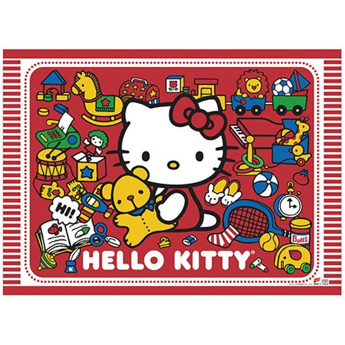 Hello Kitty Play with Kitty Wall Scroll