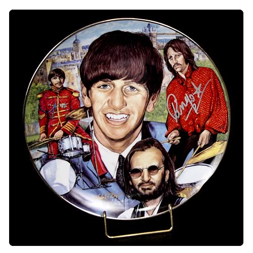 Ringo Starr 10 1/4-inch Signed Plate