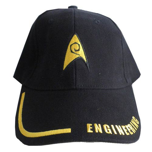 Star Trek Engineering Adjustable Black Hat