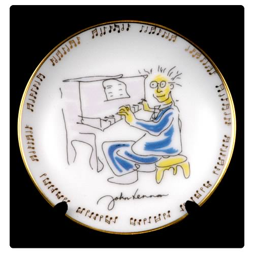 John Lennon Borrowed Time 3 1/4-inch Plate