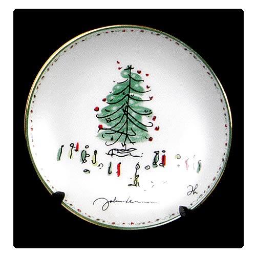 John Lennon 3 1/4-inch Christmas Plate