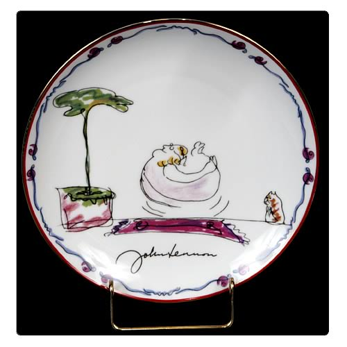 John Lennon Feeling Good 8 1/8-inch Plate
