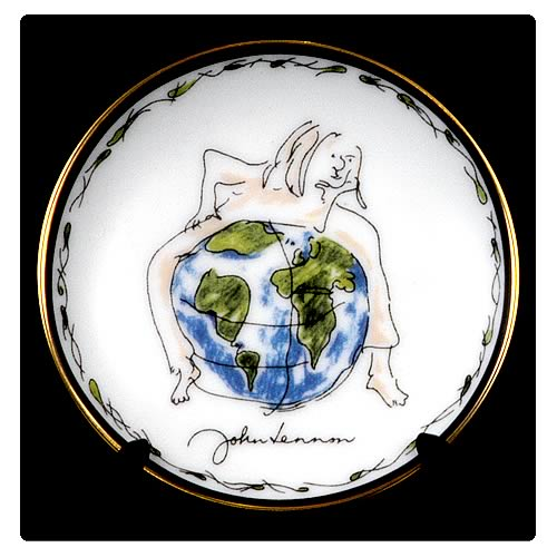 John Lennon Imagine 3 1/4-inch Plate