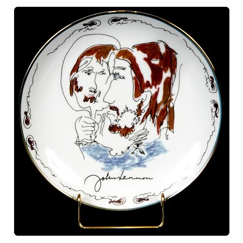 John Lennon Looking Back 8 1/8-inch Plate
