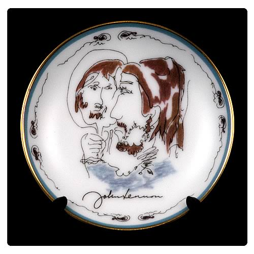 John Lennon Looking Back 3 1/4-inch Plate