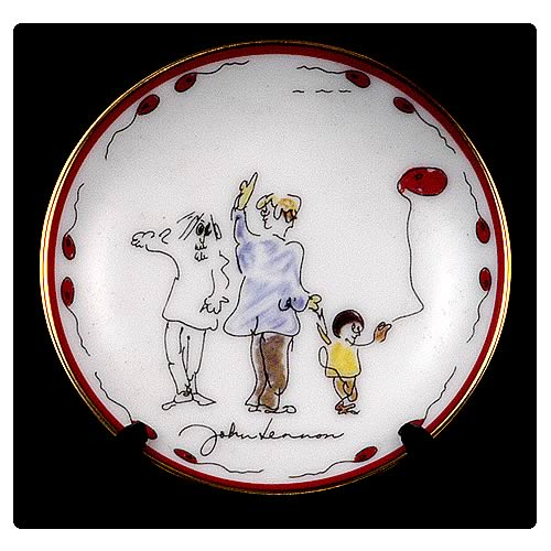 John Lennon Peace Brother 3 1/4-inch Plate