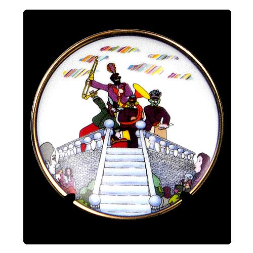 The Beatles Pepperland 3 1/4-inch Plate
