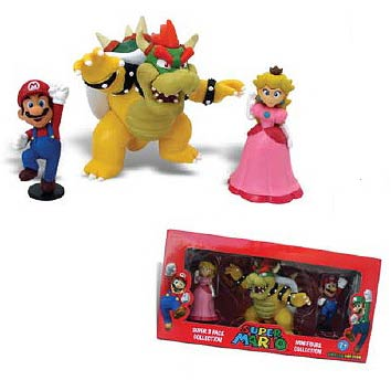 Super Mario Bros. Mario, Bowser & Peach Mini-Figure Set