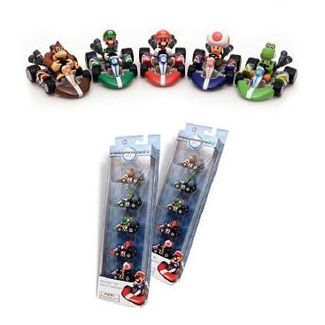 Super Mario Mario Kart Wii Die-Cast Vehicle 5-Pack