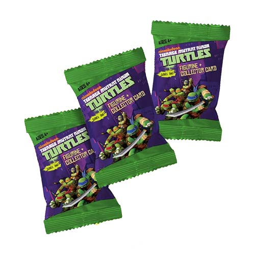 Ninja Turtles Key Chain Foil Pack Figure Display Box