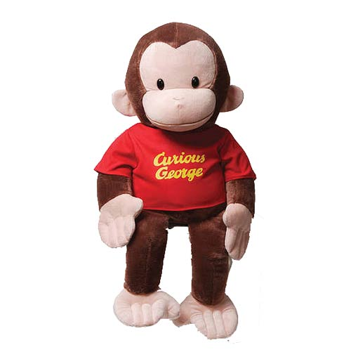 Curious George in Red Shirt 26-Inch Plush